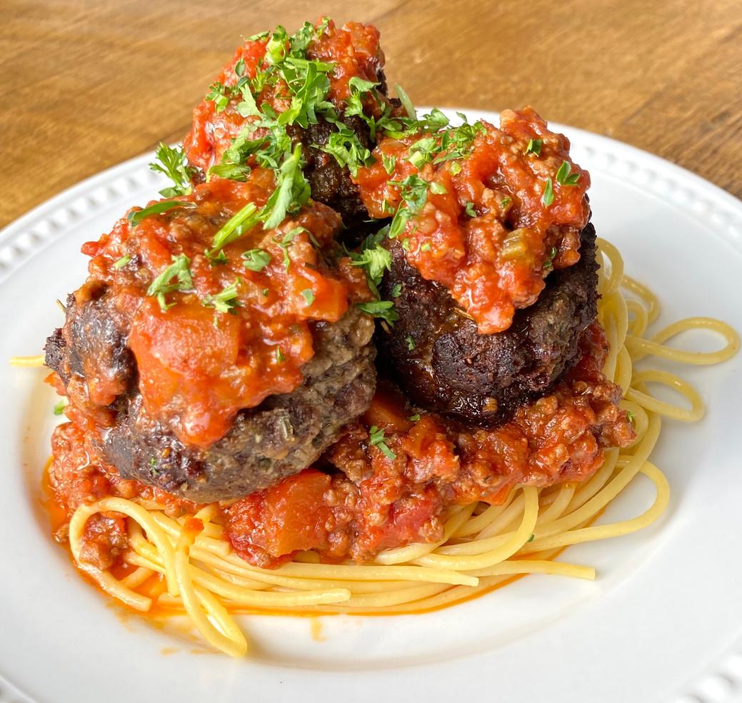 Spaghetti & Meatballs w Marinara
