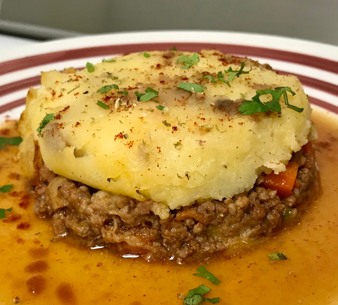 Beef Meatpie and Mama's Mash