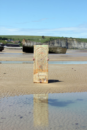 The Normandy Door. Omaha Beach, June 16, 2014