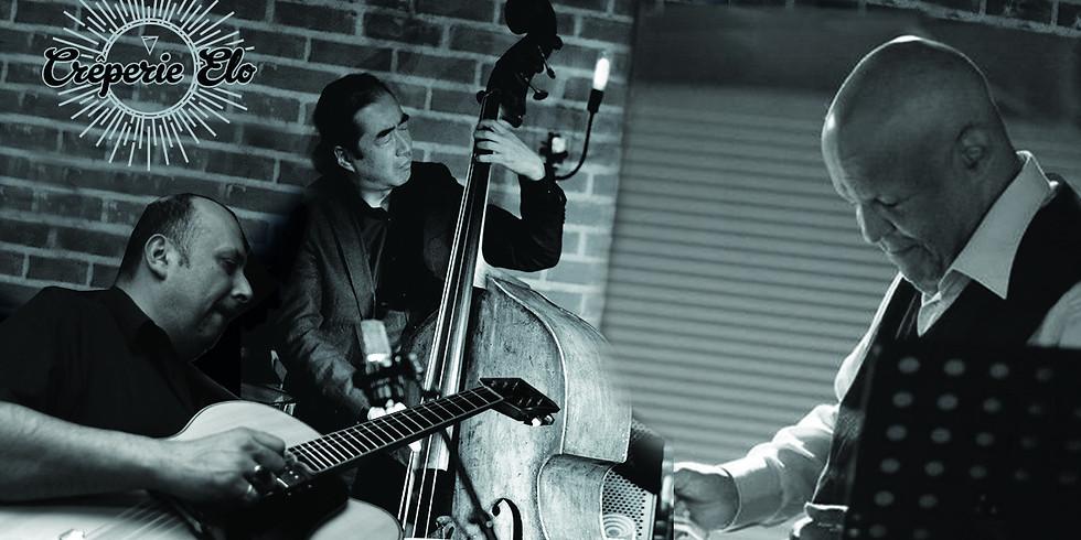 MondayElo Jazz avec William Chabey à la guitare, John Betsch à la Batterie et Duylinh Nguyen à la contrebasse