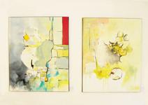 Deux toiles acrylique et fusain