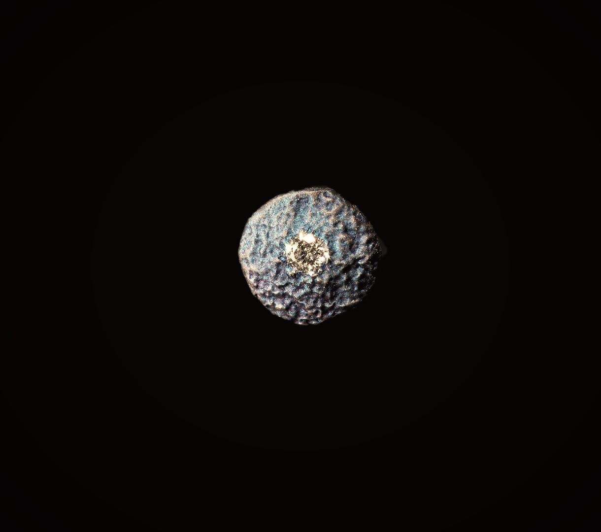 Orecchino in titanio e diamante