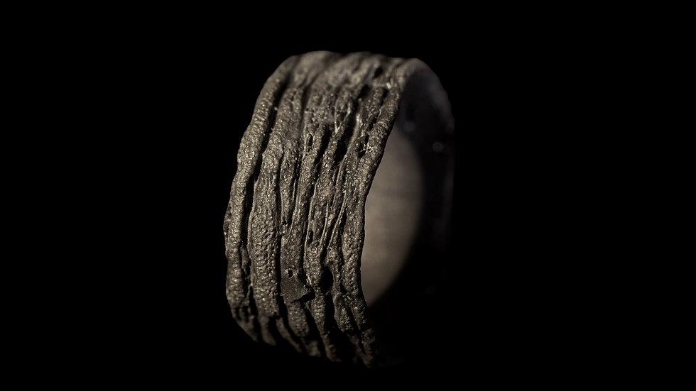 Anello fascia in bronzo e argento
