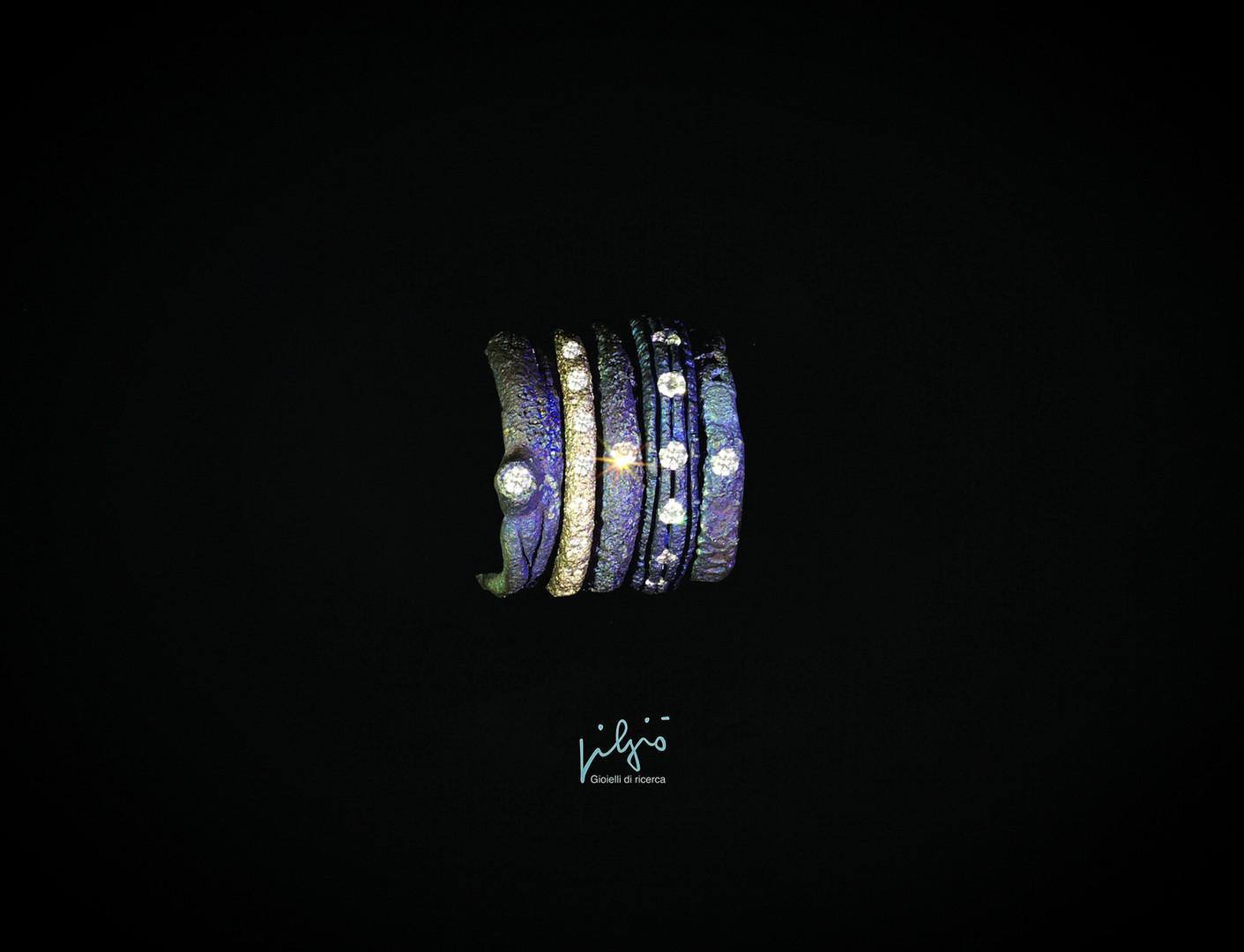 Fedi in titanio e diamanti