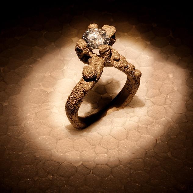 Griffes in oro e diamante