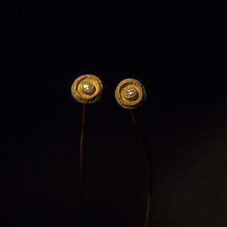 Orecchini in oro giallo e diamanti