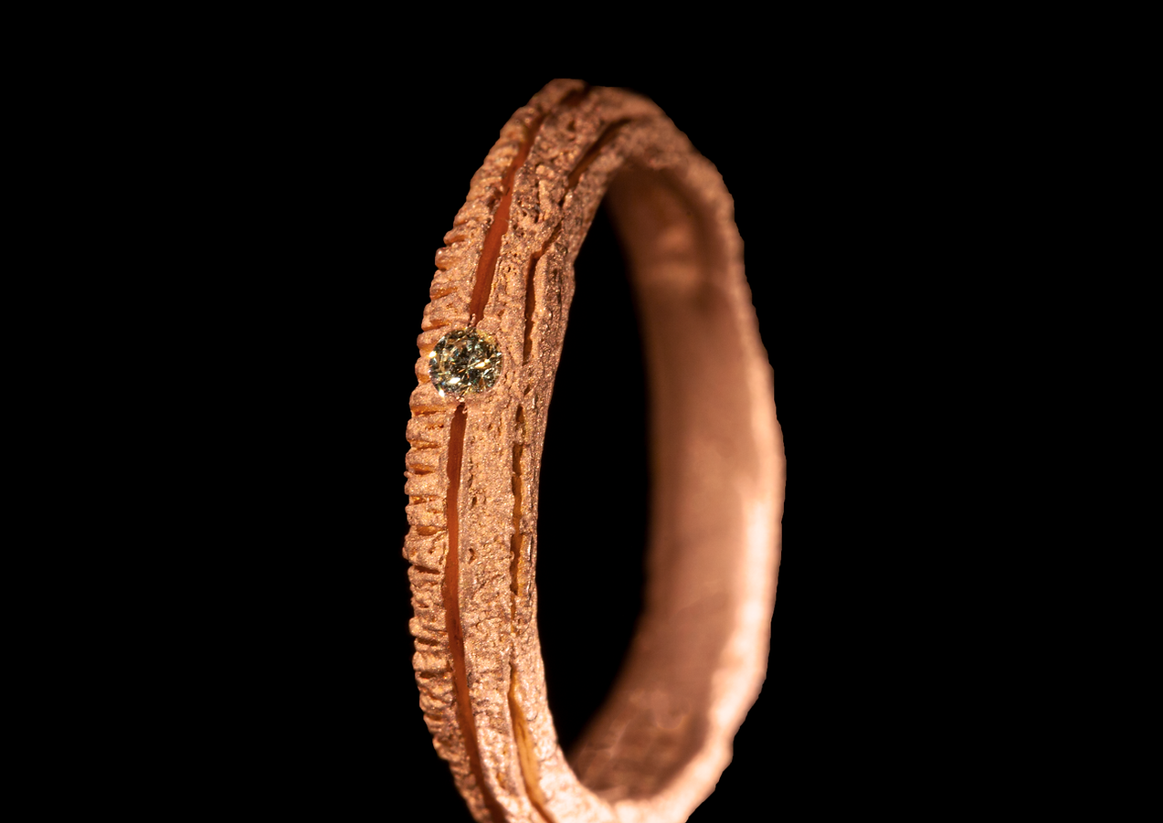 Fede in oro muto rosso 18kt