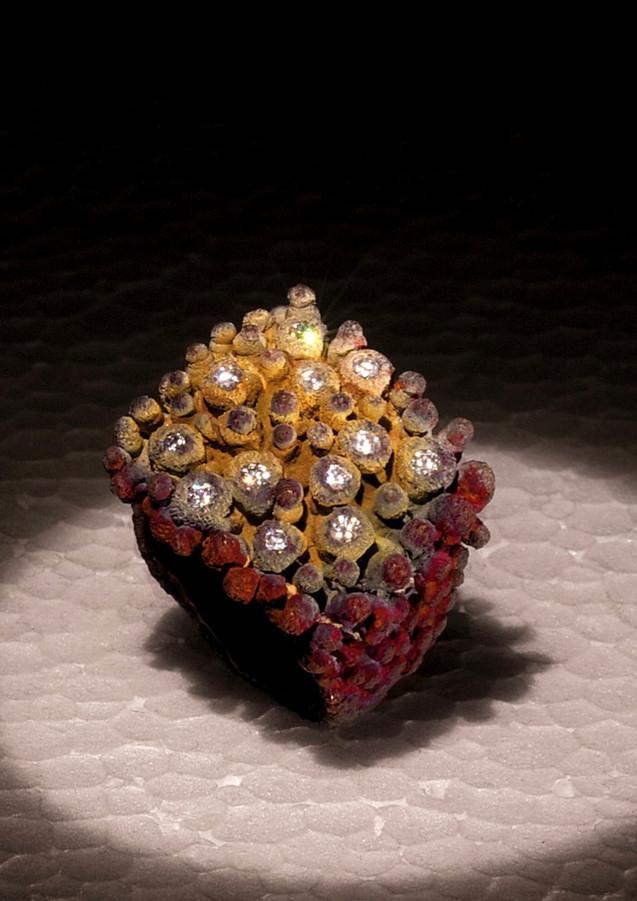 Anello in oro muto e diamanti
