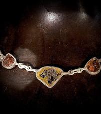 Collana oro muto e diamanti