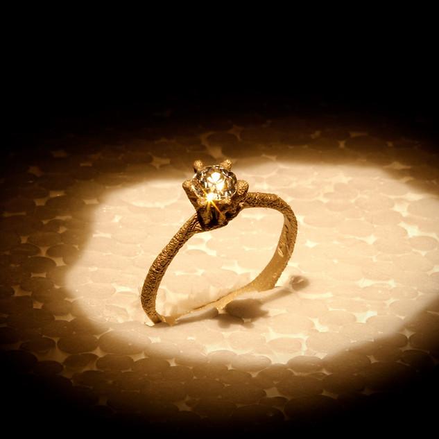 Anello in oro e diamante