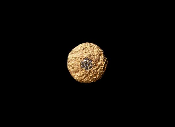 Orecchino in oro giallo e diamante