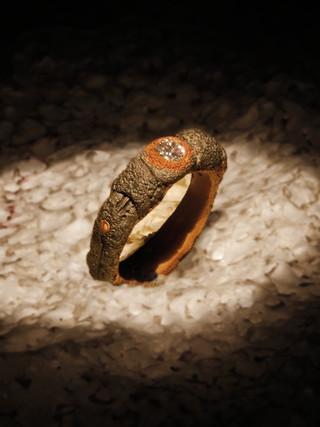 Anello in ferro-oro e diamante