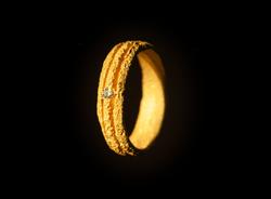 fede in oro muto giallo e diamante