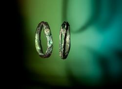 Fedi in titanio e diamante