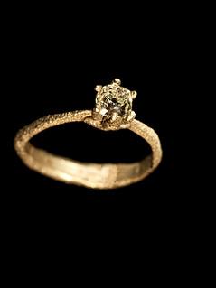 Anello in oro bianco e diamante