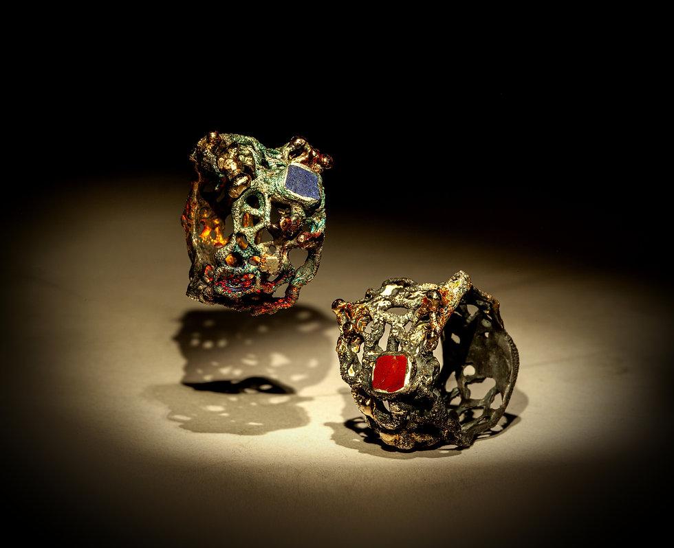 anelli in argento oro lapislazzuli e mat
