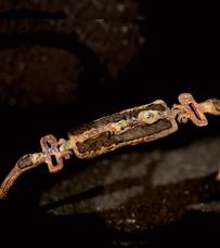 Bracciale in ferro-oro e diamanti