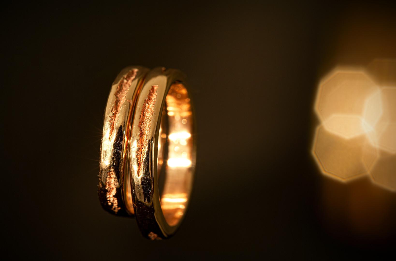 Anelli in oro rosso 18kt