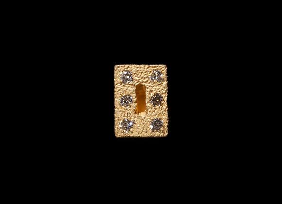 Orecchino in oro giallo e diamanti