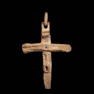 Croce in oro bianco e diamante
