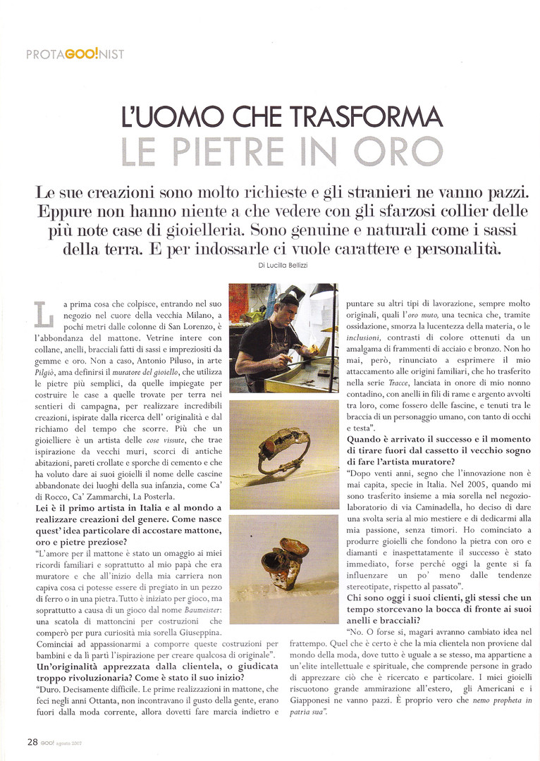 Articolo Pilgio Goo.