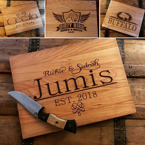 Take a look at our custom cutting boards