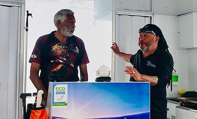 Ernie Dingo in Hervey Bay