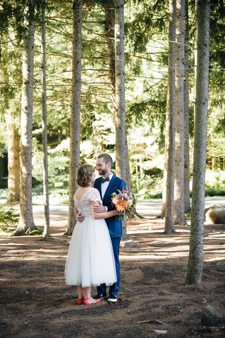 Enchanted Rustic Fall Wedding with Dahlias and Branches