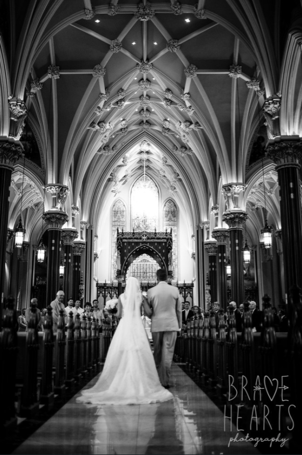 Wedding ceremomy at Cathedral of Saint Patrick