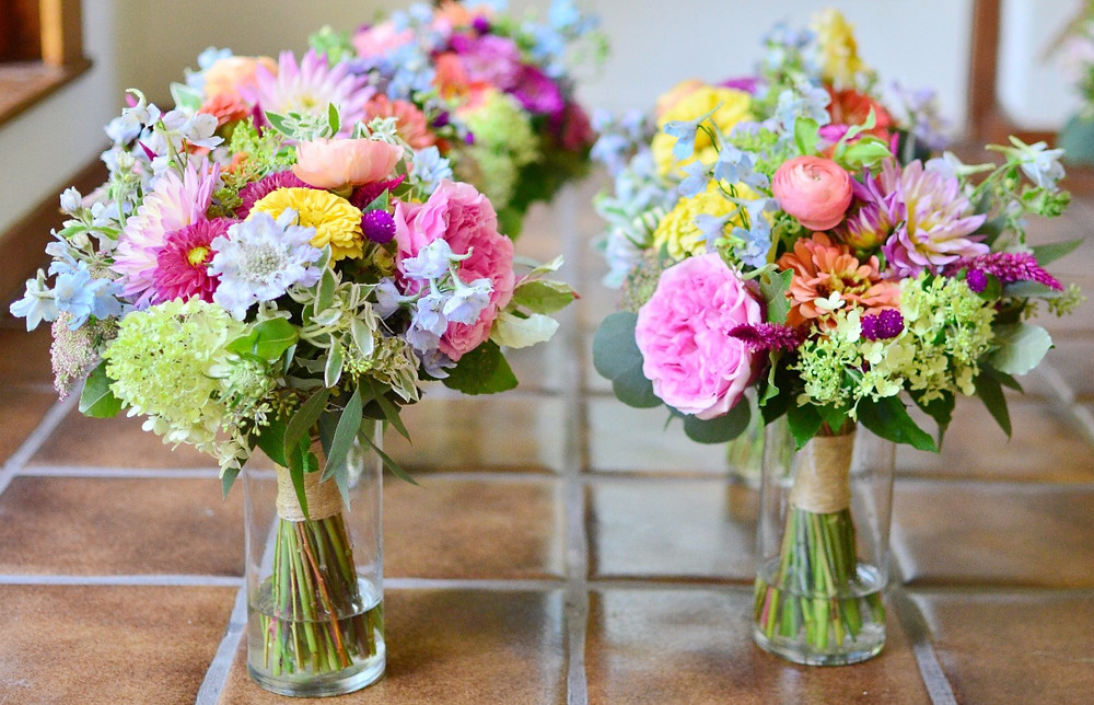 Colorful Summer Wedding at Madison Beach Hotel | Bridesmaid's bouquet