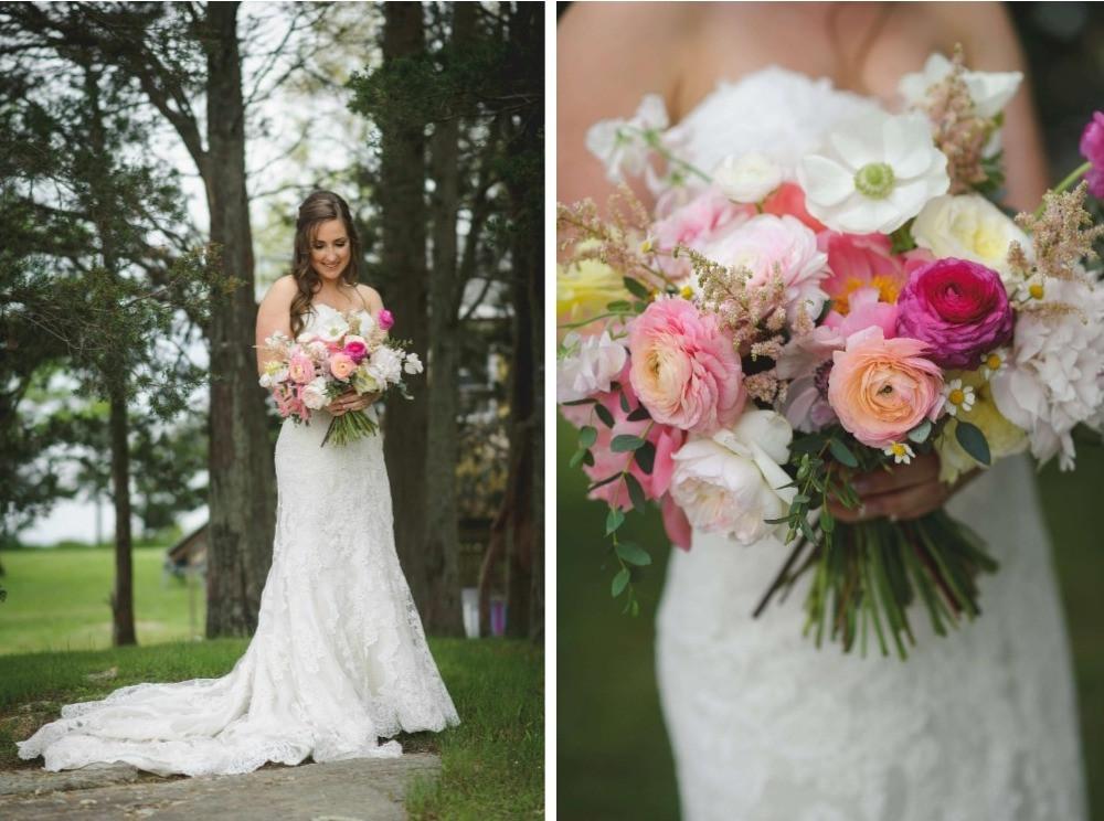 Coral Peony bride's bouquet