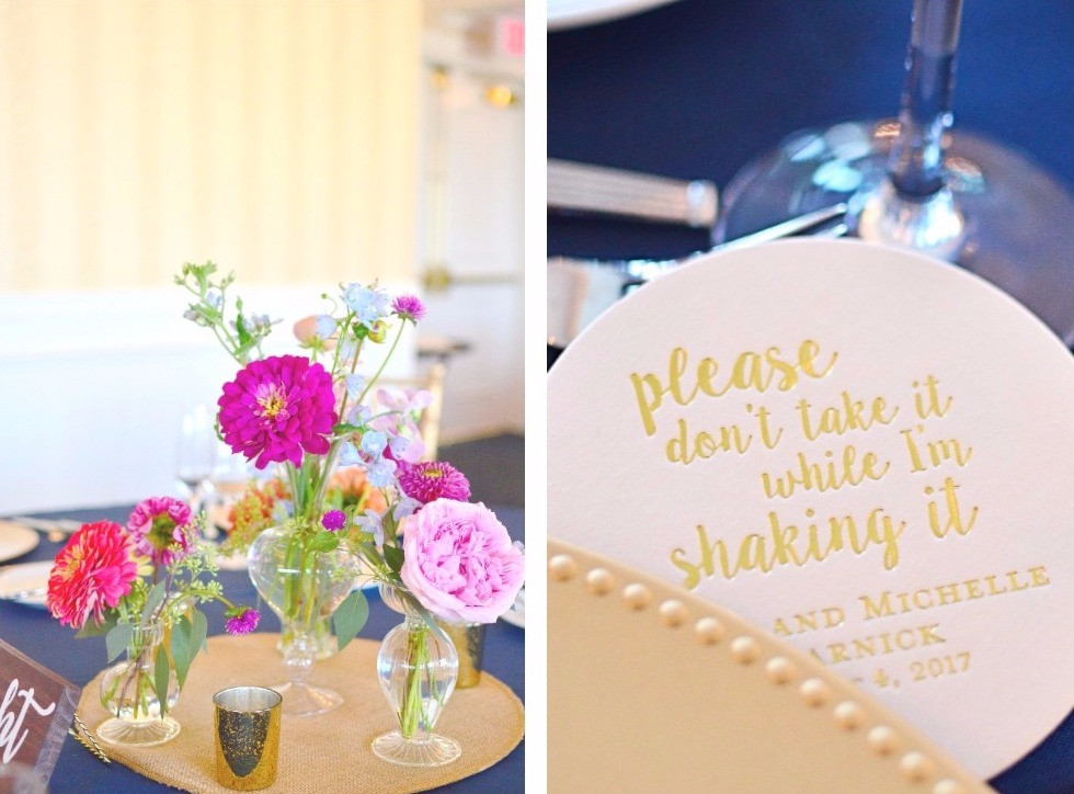 Colorful Summer Wedding at Madison Beach Hotel | Centerpieces