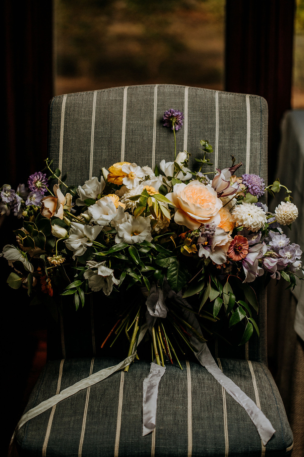 Lemon & Lavender wedding bouquet