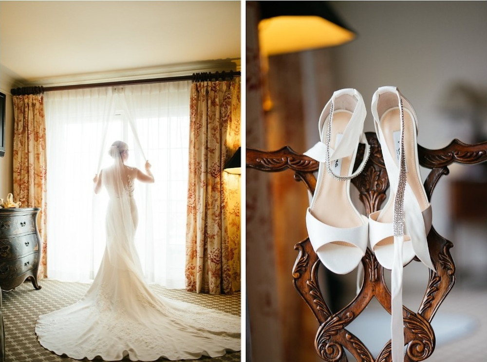 Bride and wedding shoes