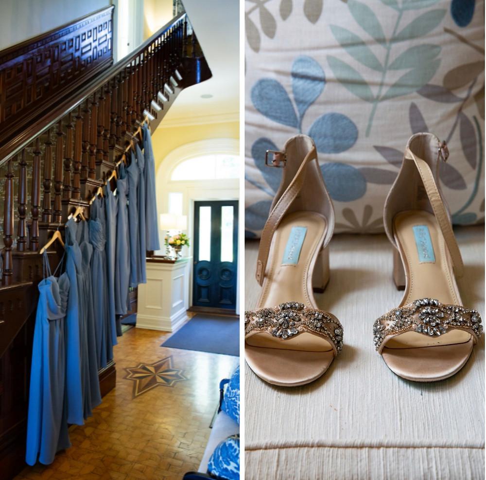 Dusty blue bridesmaid dress & bridal shows