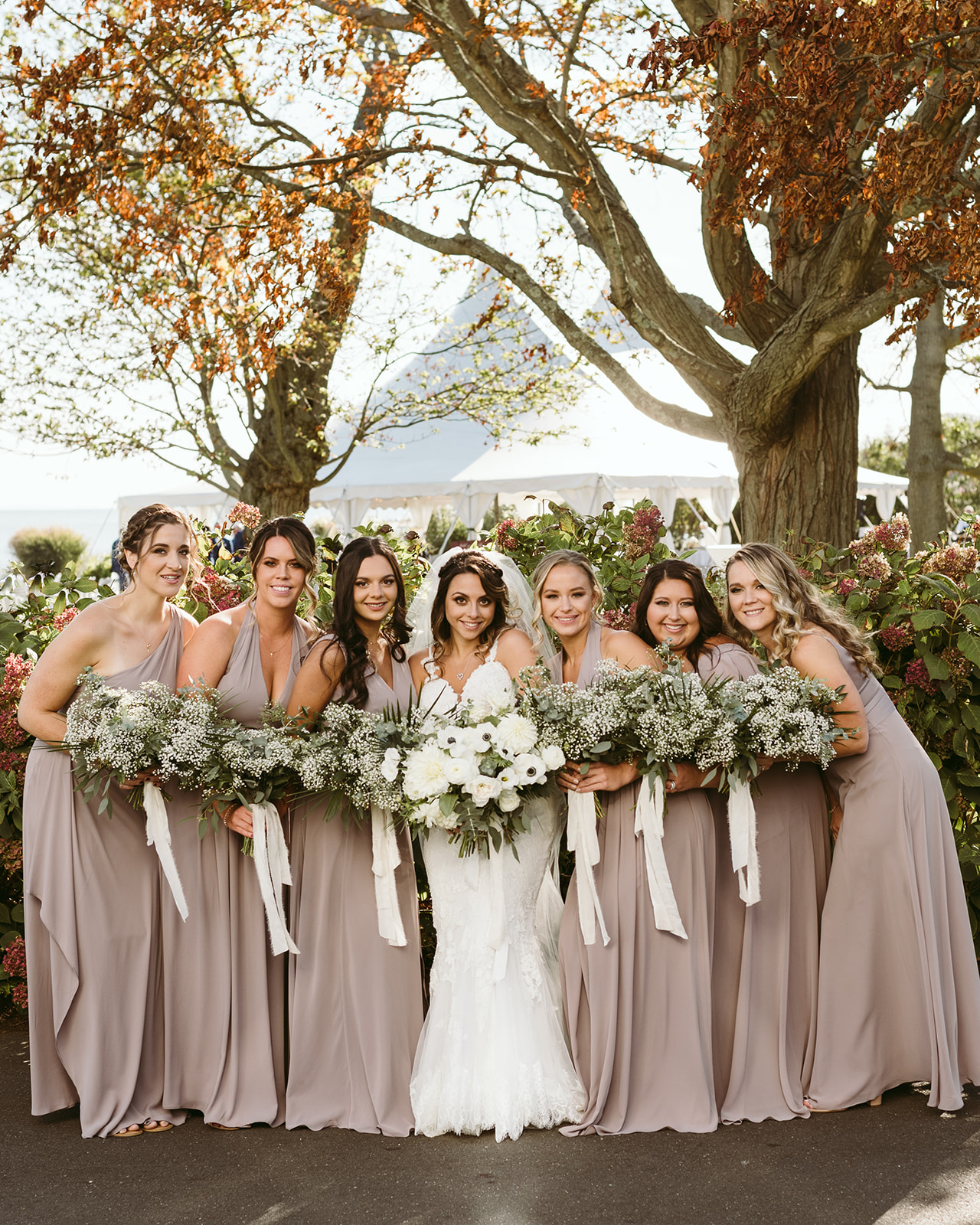 White Boho Fall Wedding at Owenego