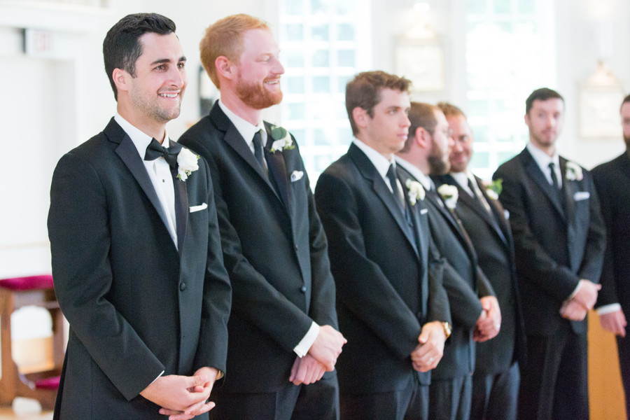 Wedding ceremony at Christ the King Church in Old Lyme