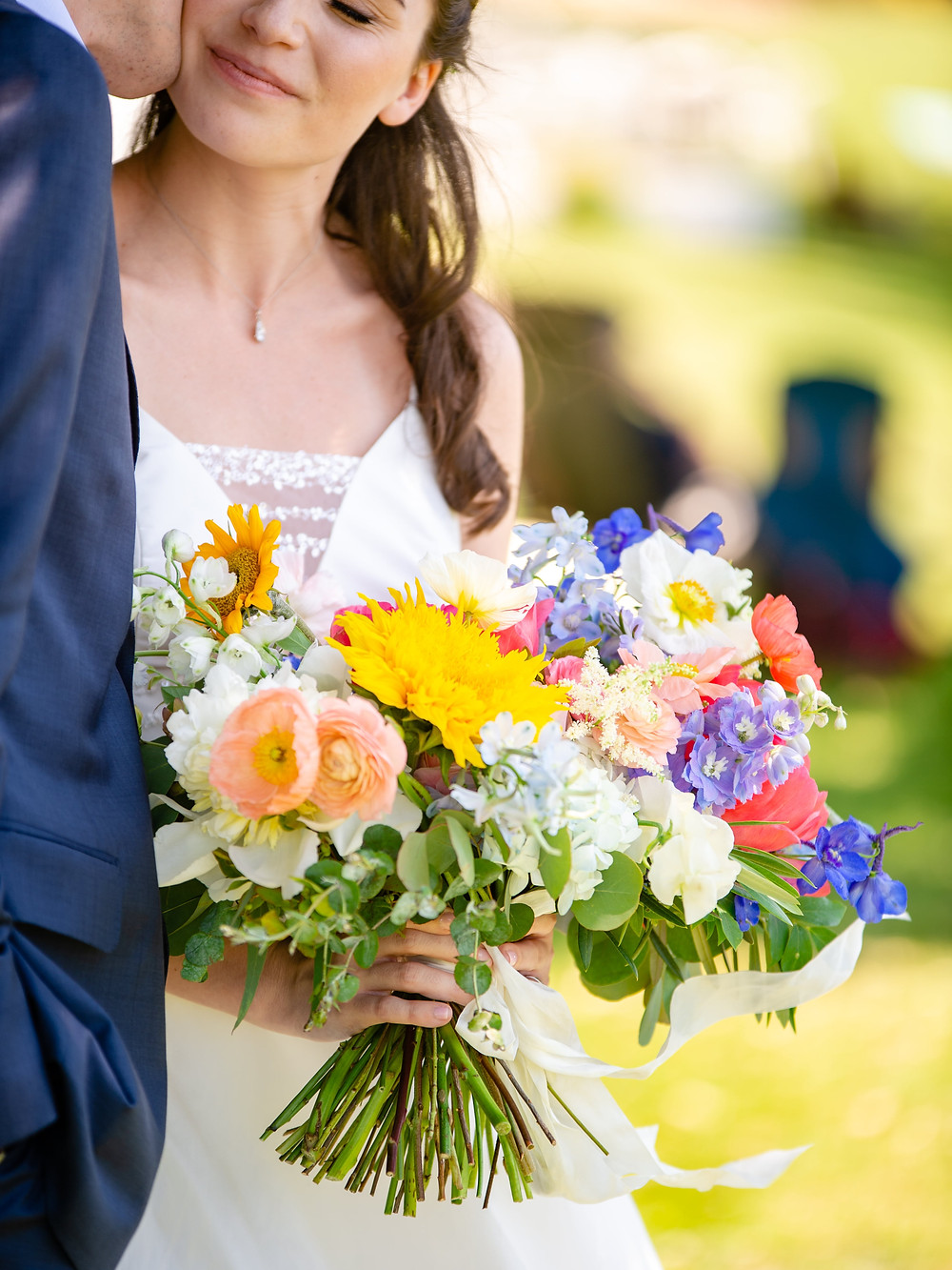 Colorful summer wedding bouquet at The Owenego