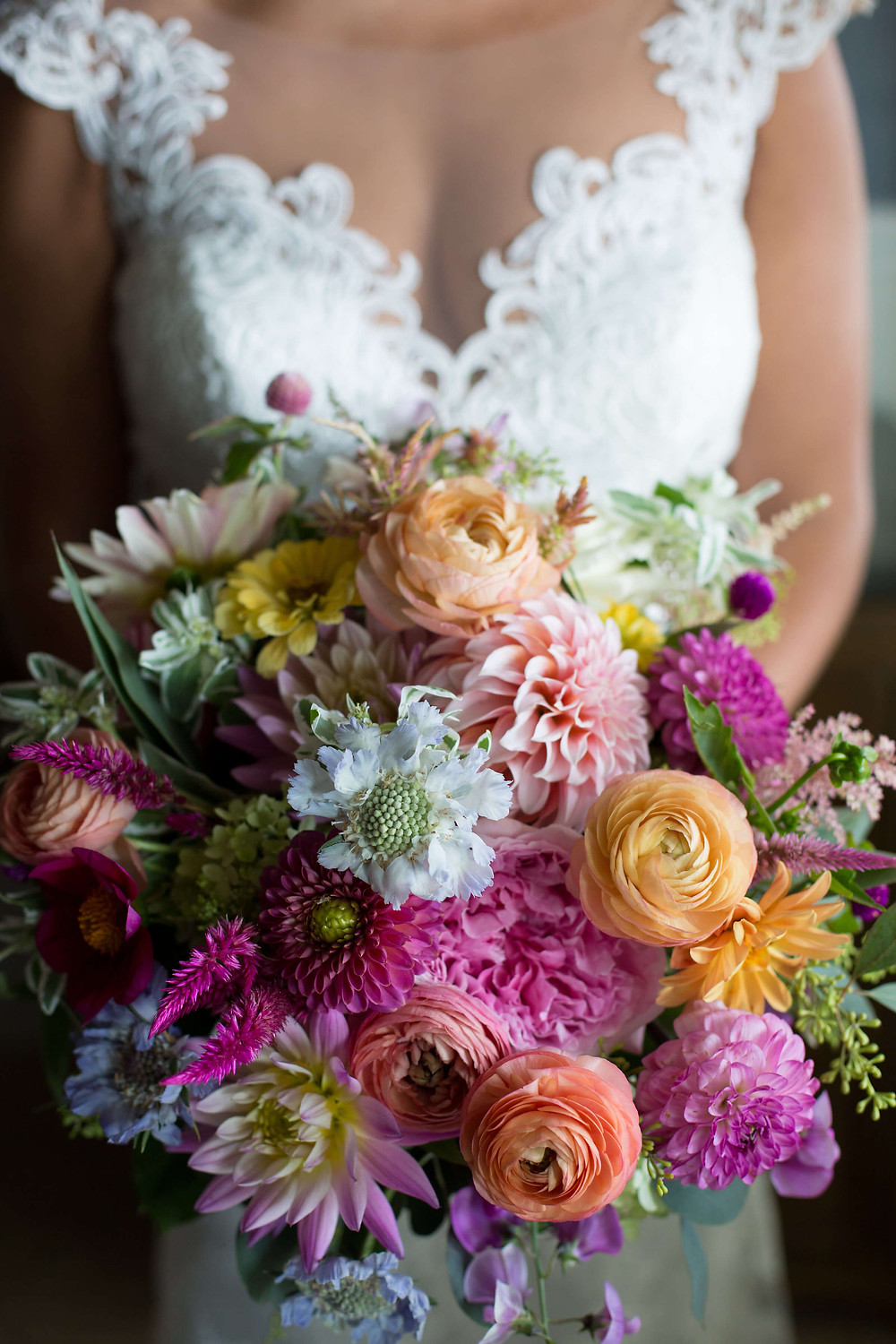 Gaden style wedding bouquet at Madison Beach Hotel