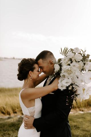 Stylish + Natural White Beach Wedding at The Inn at Longshore