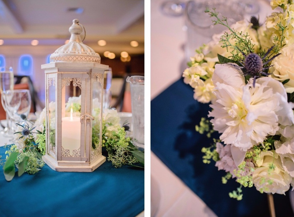 NY Style Classic Peony Wedding | Centerpieces at Woodwinds