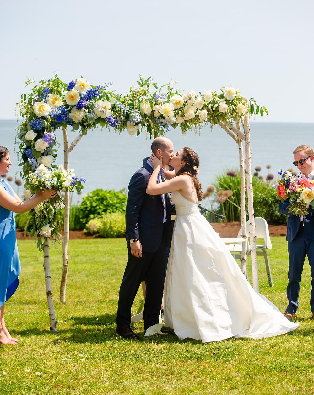 Wedding Chuppah ceremony at The Owenego
