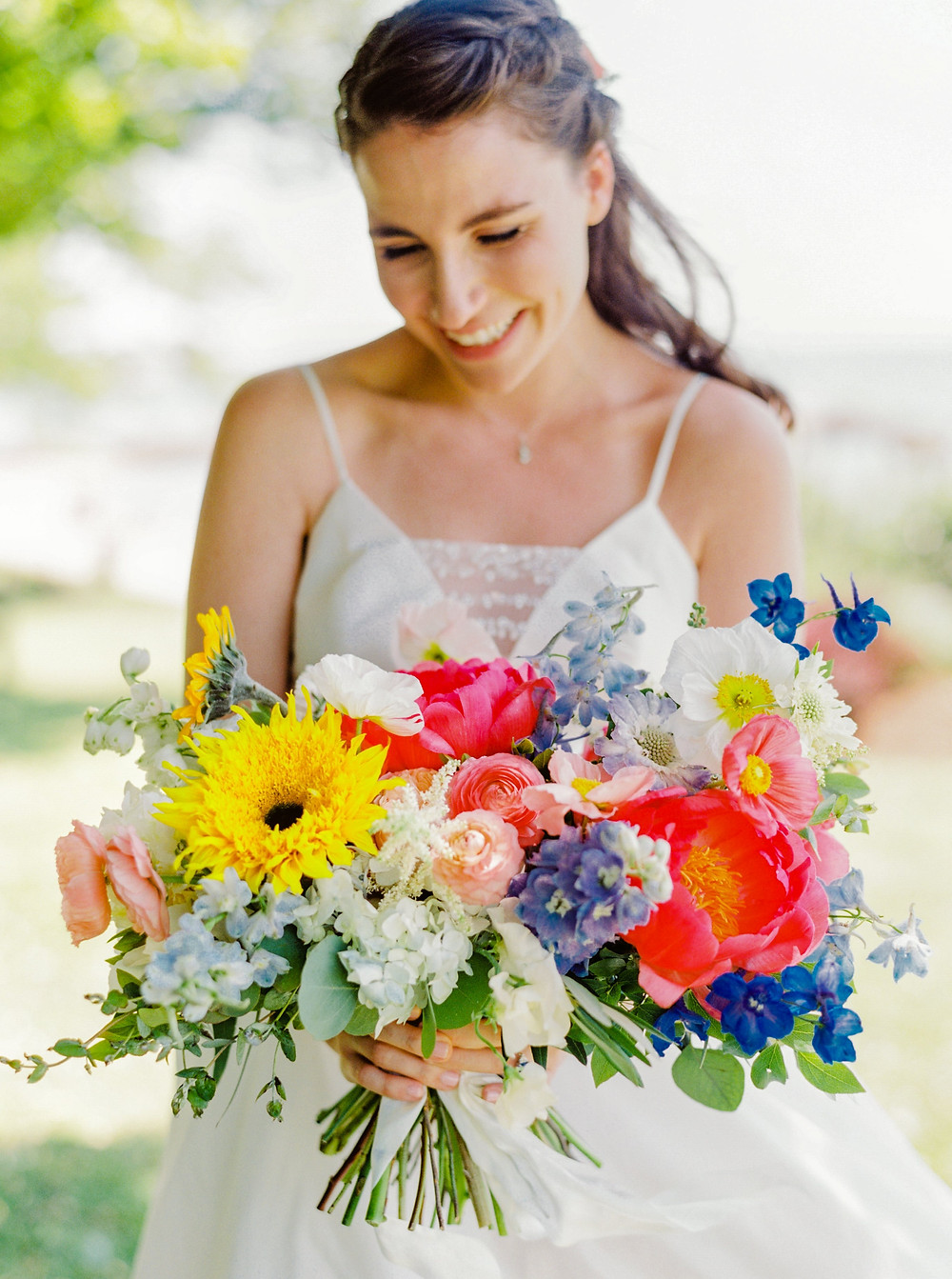 Gaden style wedding bouquet at The Owenego