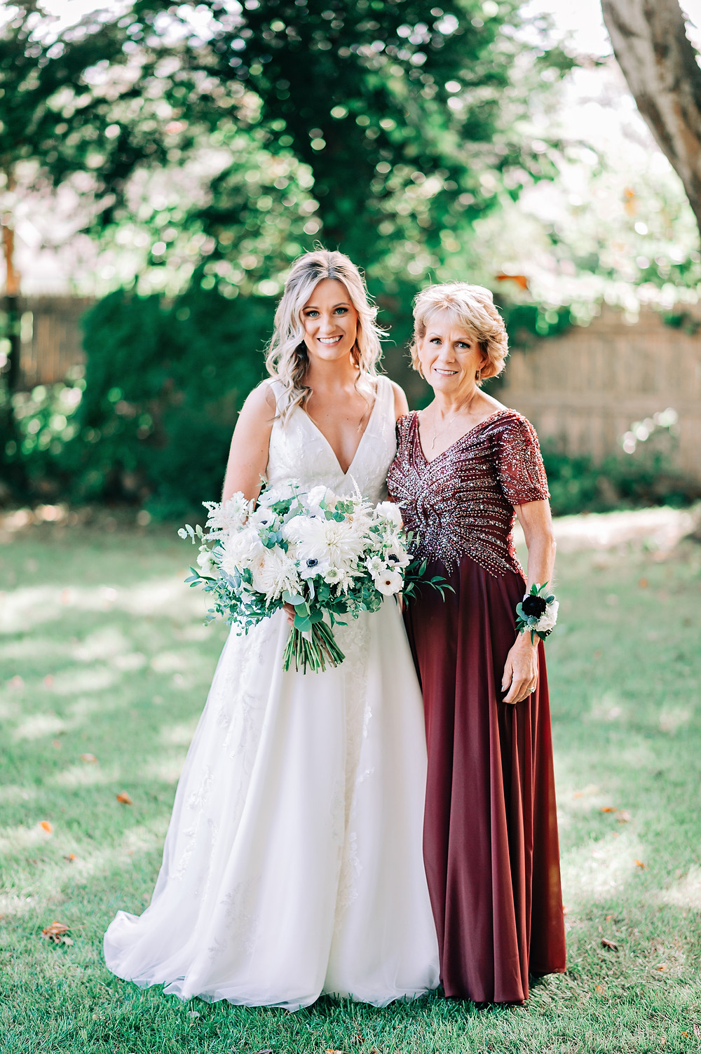 White + Burgundy Mystic Wedding at Latitude 41