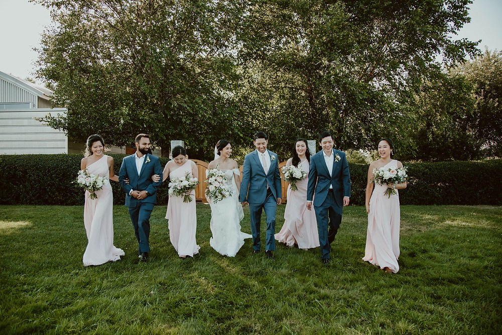 Summer wedding at Saltwater Farm Vineyard