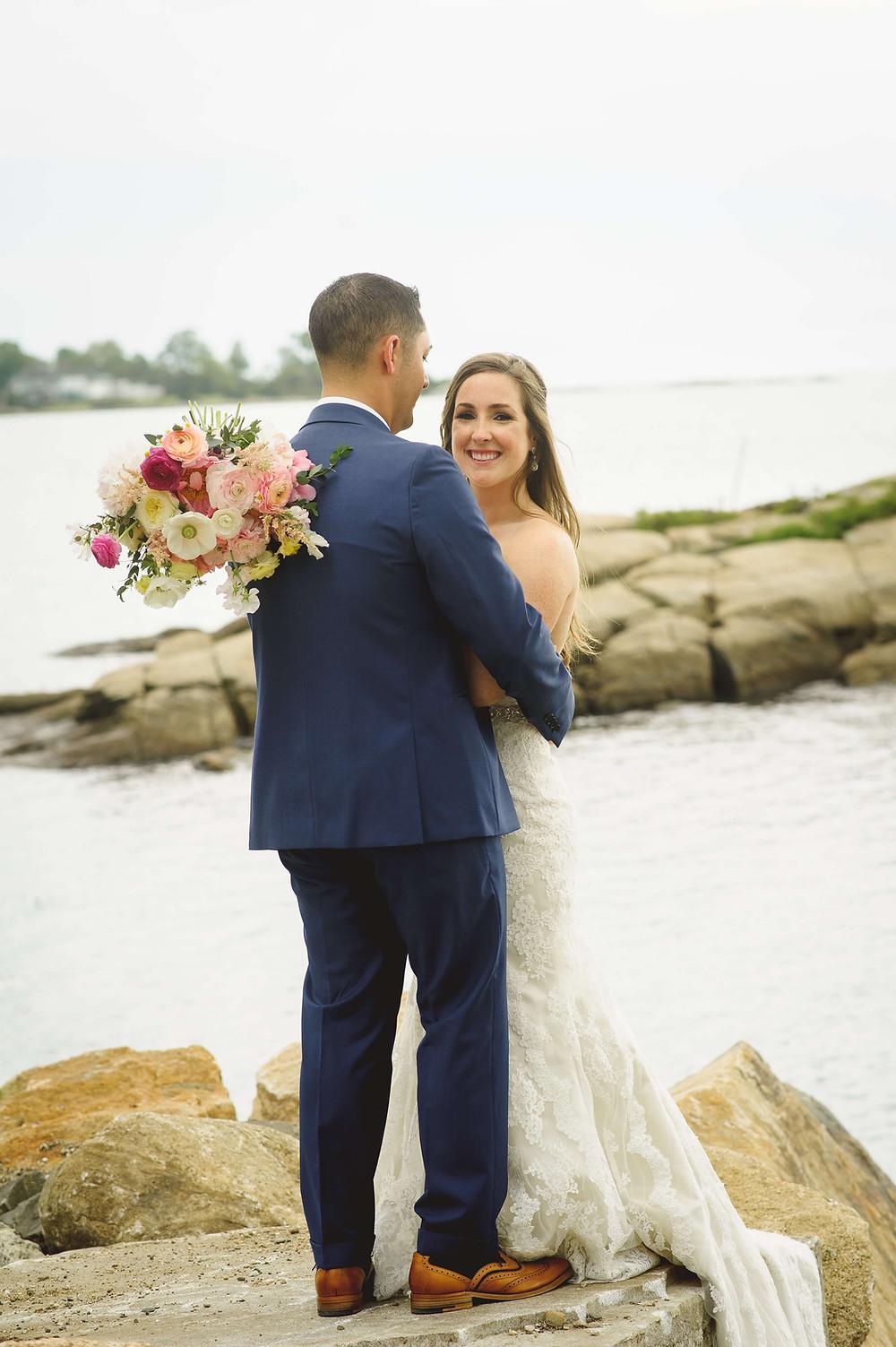 Coral peony + Teal wedding