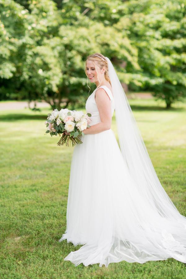 Bride with bride's bouquet