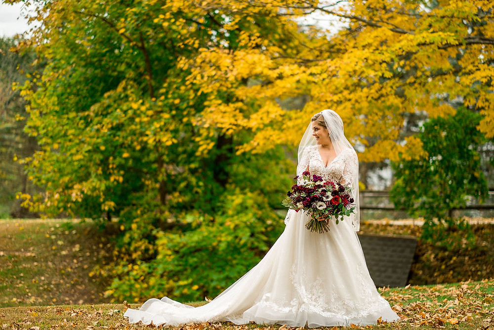 Jewel Toned Wedding at The Barn