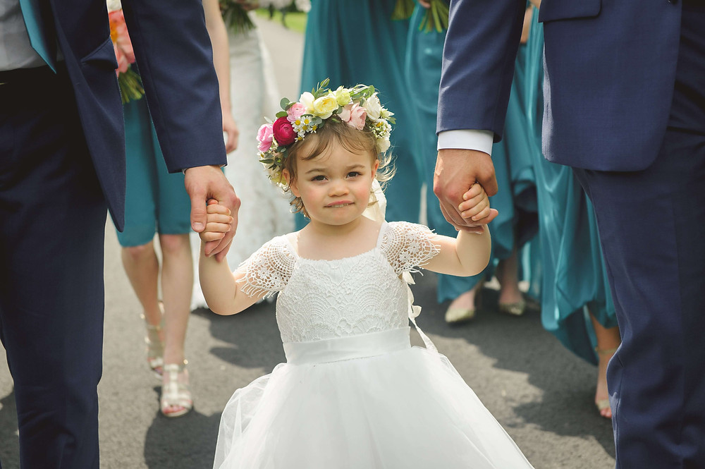 Flower crown for a flower girl