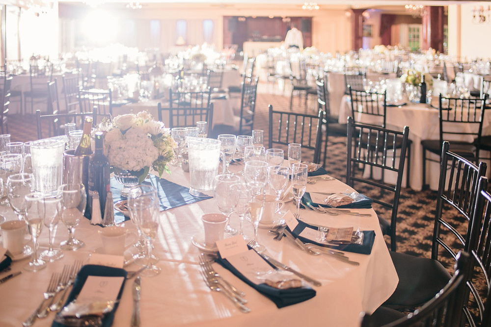 NY Style Classic Peony Wedding   Centerpieces at Woodwinds